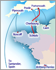 Brittany Ferries to St Malo